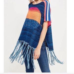 Free People Sunset Fringe Sweater Size M/L NWT